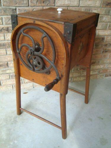 An old school butter churn made in Wapak.
