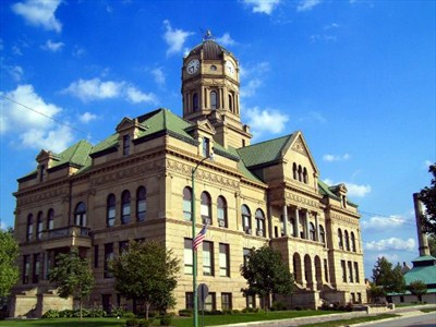The historic Auglaize County Courthouse in downtown Wapakoneta.