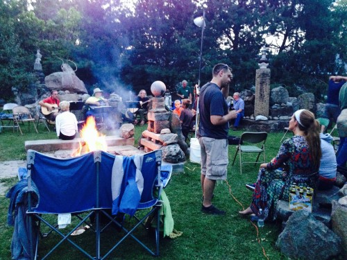 The Rock Garden with a bonfire, alive with music and people; an experience to behold and be part of!